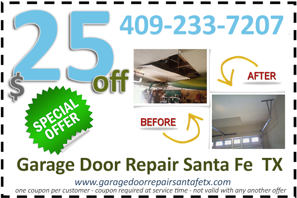 Garage Door Repair Santa Fe  TX Coupon